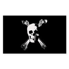 Gothic / horror pirate flag Rectangle Decal