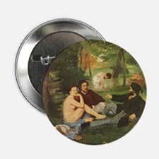 """Manet's The Luncheon on the Grass 2.25"""" Button"""