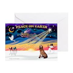 XmasSunrise/Bloodhound Greeting Card