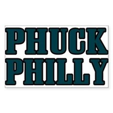 Phuck Philly 1 Rectangle Decal
