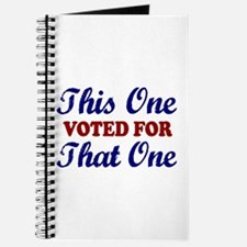 This one That One (Voted Obama) Journal