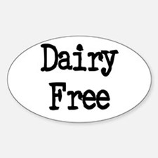 Dairy Free Oval Decal