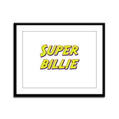Super billie Framed Panel Print