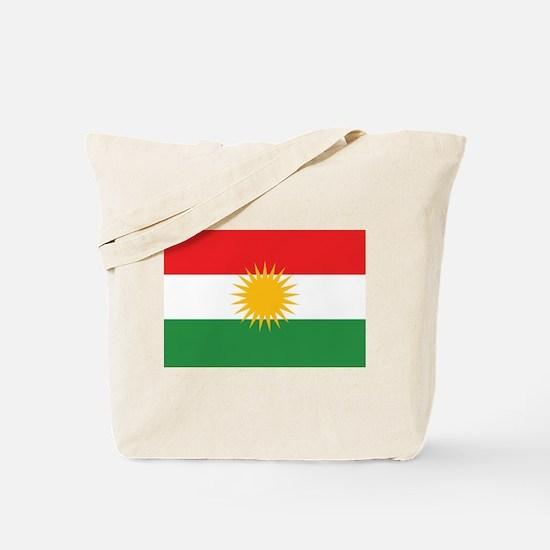 Kurdish Flag Tote Bag