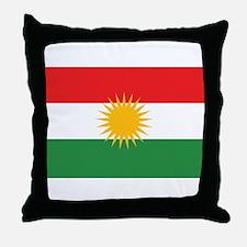 Kurdish Flag Throw Pillow