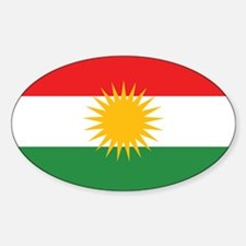 Kurdish Flag Oval Decal