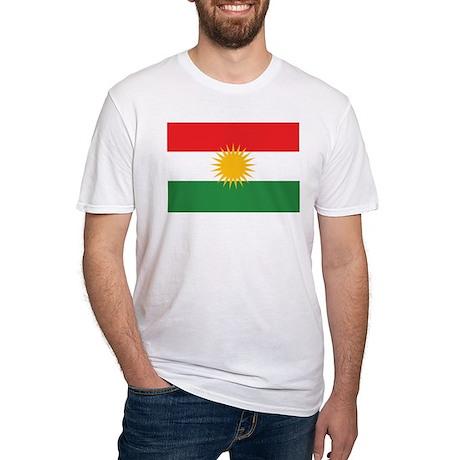 Kurdish Flag Fitted T-Shirt