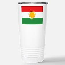 Kurdish Flag Travel Mug