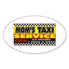 Mom's Taxi Service Oval Decal