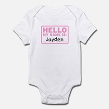 Hello My Name Is: Jayden - Infant Bodysuit