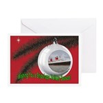 Vintage US Lines Repro Holiday Card (10 Pk)