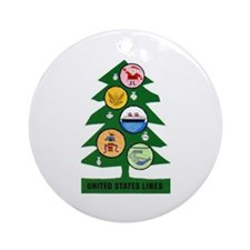 United States Lines Christmas Cruise Ornament