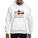 Peace Love Bull Market Hooded Sweatshirt