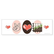Peace Love Bull Market Bumper Bumper Sticker