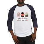 Peace Love Bull Market Baseball Jersey