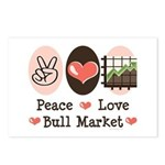 Peace Love Bull Market Postcards (Package of 8)