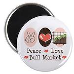 Peace Love Bull Market Magnet