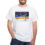 XmasSunrise/Borzoi White T-Shirt