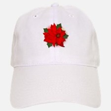 Red Poinsettias Baseball Baseball Cap