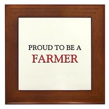 Proud to be a Farmer Framed Tile