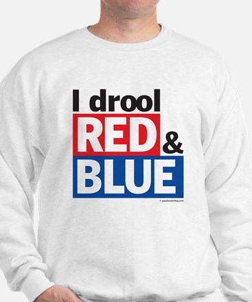 I drool red and blue Sweatshirt