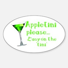 Appletini please... easy on the 'tini' Decal