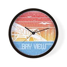 Vintage Bay View Wall Clock