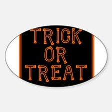 Trick or Treat Smell My Feet Oval Decal