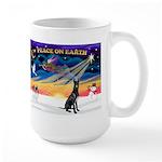 XmasSunrise/Gr Dane (blk) Large Mug