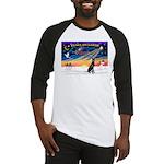 XmasSunrise/Gr Dane (blk) Baseball Jersey