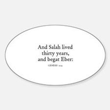 GENESIS 11:14 Oval Decal