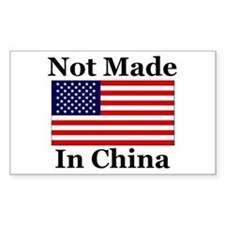 Not Made In China - America Rectangle Decal
