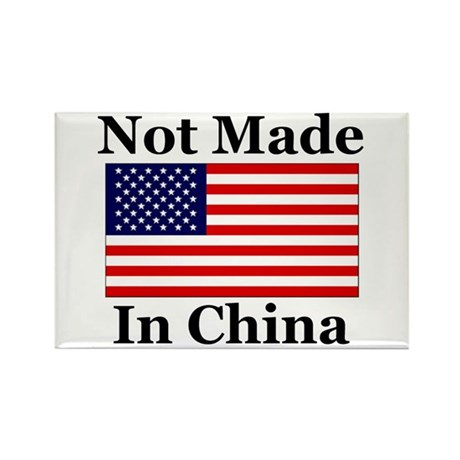 Not Made In China - America Rectangle Magnet (10 p