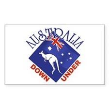 Australia Down Under Rectangle Stickers
