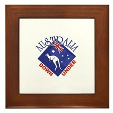 Australia Down Under Framed Tile