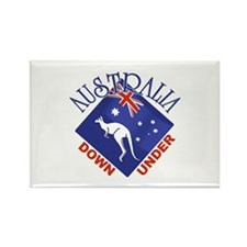 Australia Down Under Rectangle Magnet