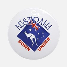 Australia Down Under Ornament (Round)