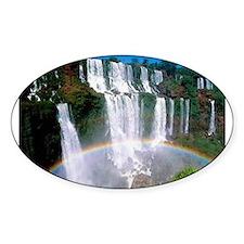 Iguazu Falls Oval Decal
