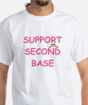 Support Second Base White T-Shirt