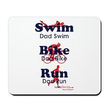 Triathlon Daddy Mousepad