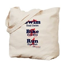 Triathlon Daddy Tote Bag