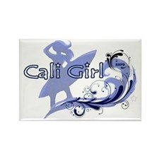 Cali Girl Rectangle Magnet