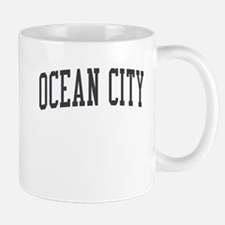 Ocean City New Jersey NJ Black Mug