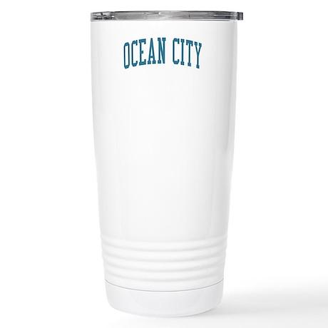 Ocean City New Jersey NJ Blue Stainless Steel Trav