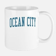 Ocean City New Jersey NJ Blue Mug