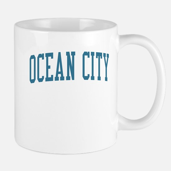 Ocean City New Jersey NJ Blue Mug