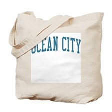 Ocean City New Jersey NJ Blue Tote Bag