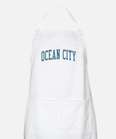 Ocean City New Jersey NJ Blue BBQ Apron