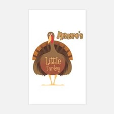 Memere's Little Turkey Rectangle Decal