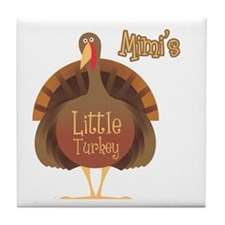 Mimi's Little Turkey Tile Coaster